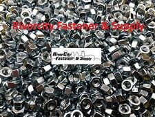 """(5) 5/16-18 Left Hand Thread Hex Nuts 5/16"""" x 18 With 1/2 Hex / Reverse Thread"""