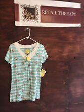 NWT Bella Bird Striped T-Shirt XL SS