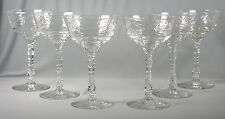 6 Artic Rose Libbey/Rock Sharpe Cut Crystal Champagne/Tall Sherbet Goblets #3005