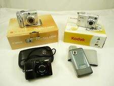 Mixed Lot of Digital Cameras Canon Kodak