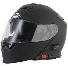 2016 VCAN V271 Blinc 5 Bluetooth Flip Front up Motorcycle Helmet FM Radio Matt Black L