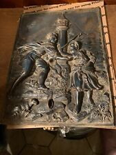 Vintage Antique Cast Metal  Repose Relief Guardian Of The Shepherd T 25