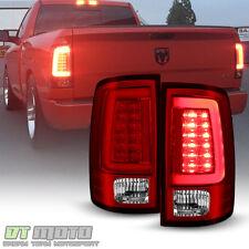 2013-2017 Dodge Ram 1500 2500 3500 V2 Red LED Tube Tail Lights Lamps Left+Right