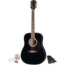 "Maestro by Gibson MA41BKCH 41"" Full Size Acoustic Guitar Kit Black New"