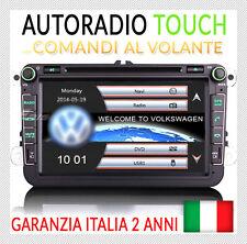 "AUTORADIO 8"" Navigatore VW GOLF 5 6 GTI,NewBeetle,Passat,Tiguan,Touran,Scirocco"