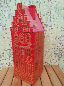 M&S CHRISTMAS 2020 EMPTY WORKING MUSICAL HOUSE BISCUIT STORAGE TIN - FREE P&P