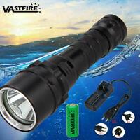 Underwater 100M 10000LM XM-L L2 LED Scuba Diving Flashlight Torch 18650 Light