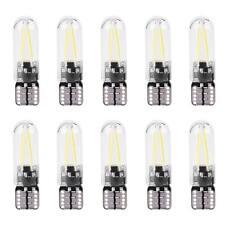 10X 12V W5W T10 194 vidrio COB Filamento de lectura LED Coche DRL tronco Bombilla LED Blanco