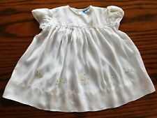 CC41 embroidered baby dress WW2 vintage 1940s childrens war time utility clothes