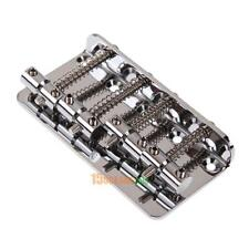 Chrome Vintage Style Bridge For Fender Jazz Bass Guitar 4-String with 4 Scr #ORP