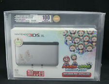 Nintendo 3DS XL Silver Mario & Luigi Dream Team System VGA Graded U100 GEM MINT!