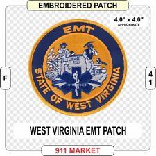 West Virginia EMT Patch EMS WV State Rescue Medic Emergency Medical Rescue  F 41