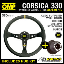 RENAULT CLIO 172 182 CUP 98-06 OMP CORSICA 330 SUEDE LEATHER STEERING WHEEL