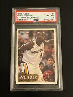 1993-94 Fleer Lottery Exchange Chris Webber #1 PSA 8 Golden State Warriors