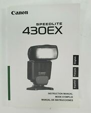 Canon Speedlite 430EX Camera Flash Instruction Book Manual User Guide