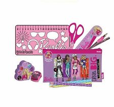 Helix marca Barbie Set Cancelleria SCUOLA PRIMARIA Essentials Kit Astuccio