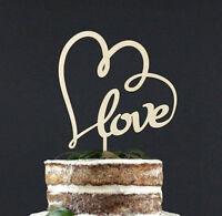 Love Wooden Wedding Cake Topper Decoration Keepsake