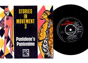 """PANTALONE'S PANTOMINE.STORIES IN MOVEMENT-3.UK ORIG 7"""" CLASSICAL EP.VG+/EX"""