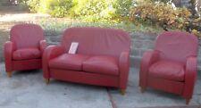 Ensemble canapé et deux fauteuils cuir Poltrona Frau Daisy