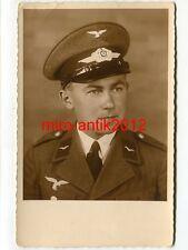 Foto, Portrait, Luftwaffe, Flieger, Schirmmütze, Studiofoto