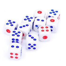 Set pack juego de dados para poker colores azul y rojo nuevos
