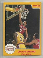 Julius Erving 1985 Star Company 76ers Crunch 'n Munch All Star NBA Card #3
