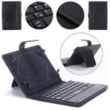 Universale 10 pollici Tastiera Bluetooth Porta Astuccio In Cuoio per PC Tablet
