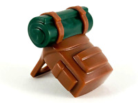Lego New Minifigure Backpack Brown with Red Bedroll Pattern Piece