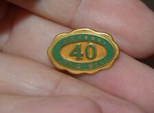 Vintage Long Bell Lumber Company 40 Year Service Pin          s4