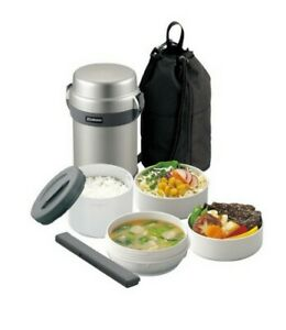 Zojirushi Stainless Bento Lunch Box Food Container Keep Hot Cold 1.4L SL-JAF14