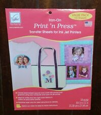 June Tailor Iron-On PRINT 'n PRESS Transfer Sheets ~10 Sheets~ Item# JT-909