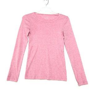 J.Crew Perfect Fit Tee T-Shirt Womens Size M Medium Heathered Pink Long Sleeve