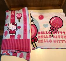 Sanrio Hello Kitty Sweet Scents Twin Bed Flat Sheet & Pillowcase