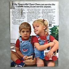 1978 Tomy Toys Tuneyville Choo Choo Vintage Photo Print Magazine Ad