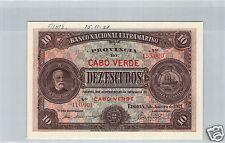 Cap Green Cancel 10 Escudos 1.1.1921 N°110001/155000 Pick 35