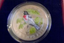 2012 25-cents Rose-breasted Grosbeak: Birds of Canada #9 Color Specimen Coin