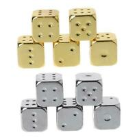 5pcs 13mm Metal Dice Solid Heavy Dice Bar Night Club Party Drinking Game Dice H