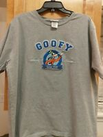 Unisex Womens Mens Walt Disney World GOOFY Shirt Size  Large 1932 Gray