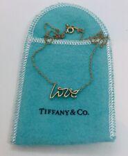 Tiffany & Co.Authentisch Paloma Picasso 18k Gelbgold Graffiti Liebe Halskette
