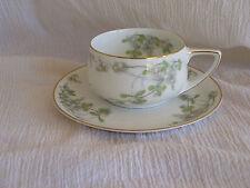 Rosenthal Mistletoe Donatello Gold Rim Tea Cup & Saucer Porcelain Selb Bavaria