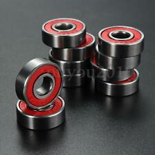 10 PCS ABEC 7 608RS Skate Scooter Skateboard Wheels Spare Bearings Ball Roller