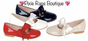 💖 Spanish Girls RED Slip On Bow Shoes 💖 SMALL FITTING ❣️