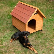 Wooden Dog Kennel Classic Strong Outdoor Waterproof Extra Large All Weather Wood