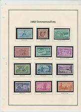 U.S. 1953-54 Commemorative Year Sets, 17 items COMPLETE (2 scans), mNH Fine