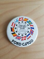 FORD CARGO 1982 Truck van het jaar / Button / Badge / DUTCH / 55mm