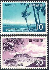 Japan 1973 Ogasawara Islands National Park/Coast/Coral/Palm Trees 2v (n24194)