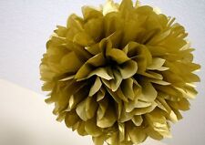 """10pcs 4"""" gold tissue pom poms baby shower wedding event party hanging decorate"""