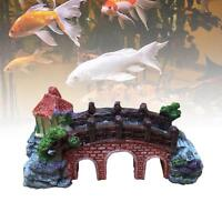 Fish Tank Aquarium Landscaping Underwater Arch House Bridge Ornament Decor EH