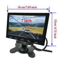 7'' Ultra Thin HD 800x480 TFT LCD Color Audio AV HDMI VGA Car Rear View Monitor