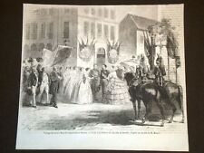 Rouen nel 1857 Viaggio dei Sovrani Visita alla filatura del lino